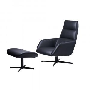 Крісло BERKELEY (Берклі) Крісло з підставкою під ноги, шкірзам Concepto