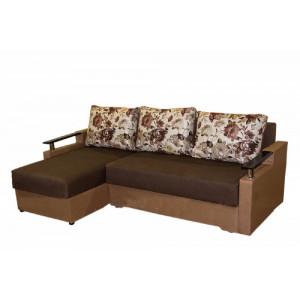 Кутовий диван сатурн, коричневий Анвит
