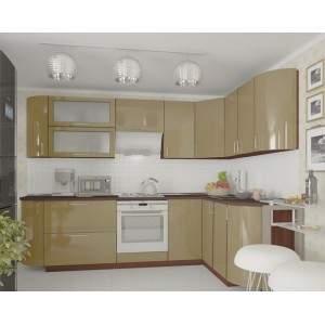 Кухня колор-микс, Кухня №1 (2,7х1,7 м) ВИП Мастер