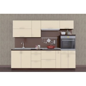 Кухня колор-микс, Кухня №13 (2,6 м) ВИП Мастер
