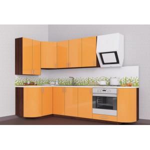 Кухня колор-микс, Кухня №18 (1,3х2,7 м) ВИП Мастер
