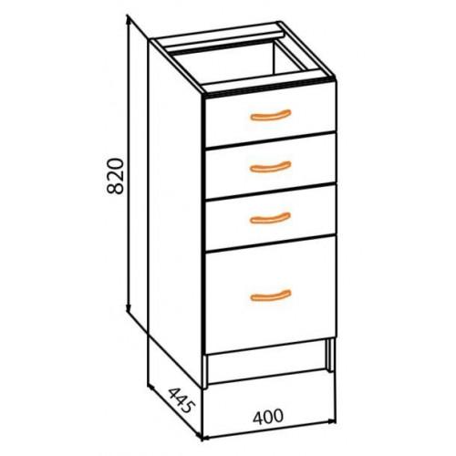 40 низ ящики, кухня алина Мебель Сервис