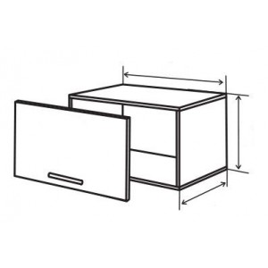 №10 верх витрина (стандарт), кухня грация ВИП Мастер
