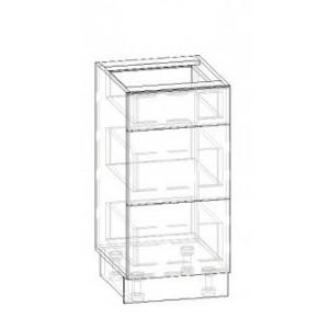 40 низ ящики, кухня грета Мебель Сервис