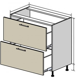 №11 низ шухляди (стандарт), кухня interno ВІП Мастер
