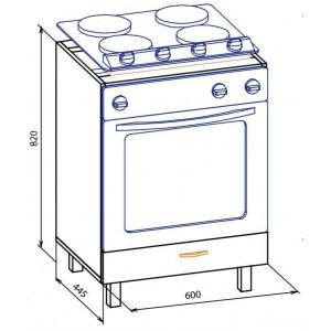 60 низ духовка, Кухня Паула