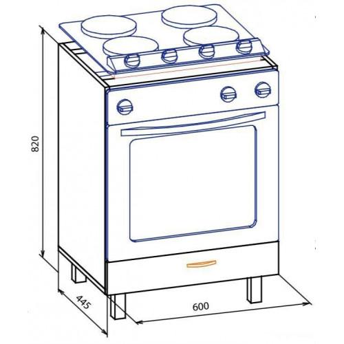 60 низ духовка, кухня паула Меблі Сервіс