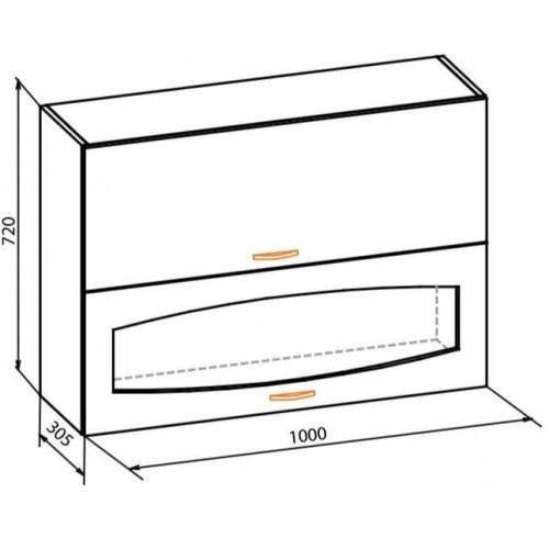 100 верх витрина, кухня паула Мебель Сервис