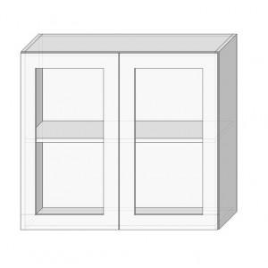Кухня софія люкс (sofia lux), 80 верх вітрина Сокме