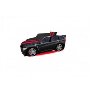Детская кровать машинка premium p 002 +led (подсветка фар (цветная) 5v+пульт)+(подсветка низа кровати (цветная) 5v+пульт) Viorina - Deko