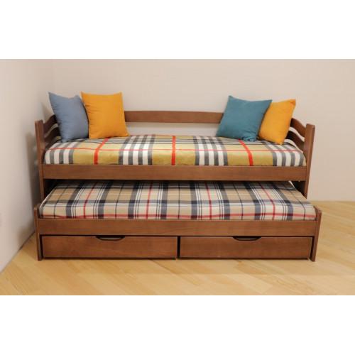 Ліжко односпальне з додатковим висувним спальним місцем Мальва Дрімка