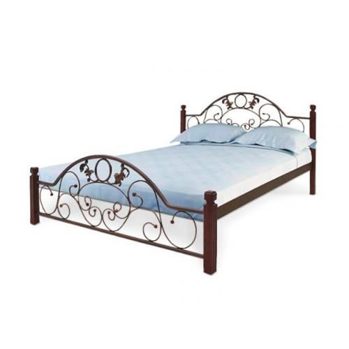 Ліжко франческа на дерев'яних ніжках Метал-дизайн