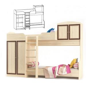 Ліжко гірка + ламель, дитяча модульна дісней Меблі Сервіс