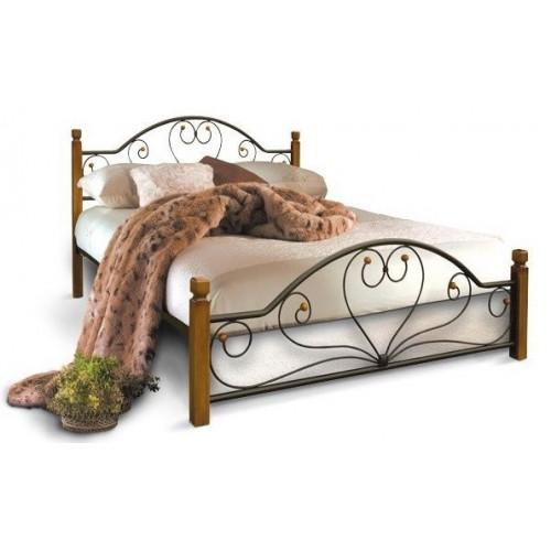 Кровать джоконда на деревянных ножках Металл-дизайн