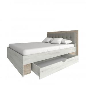 ліжко 160 без ламелей з шухлядою, спальня мілана Сокме