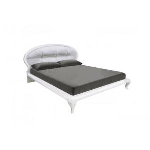 Кровать с каркасом, мягкая спинка, спальня Империя, МР-37-WB Миромарк