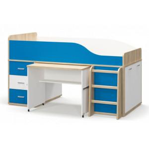 Ліжко гірка, дитяча модульна система лео Меблі Сервіс