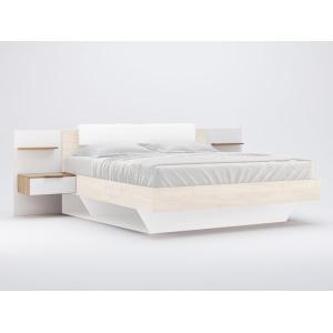 Ліжко м'яка спинка+приставні приліжкові тумби (2шт), модульна система Асті, Міромарк