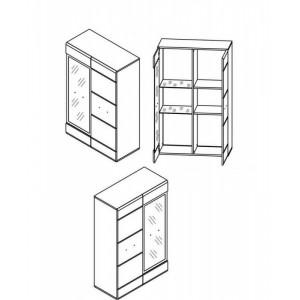 010-1 витрина reg1d1w_l / p, модульная система вушер Гербор Холдинг