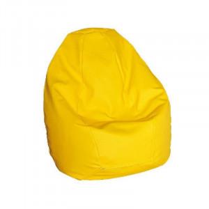 Крісло-груша гном шкірзам. жовтий Меблі Сервіс