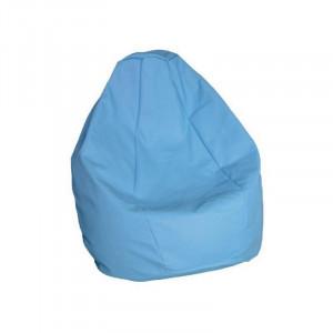 Крісло-груша Гном шкірзам. блакитний