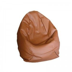Крісло-груша Гном шкірзам. коричневий