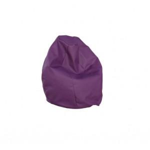 Крісло-груша Гном шкірзам. фіолетовий