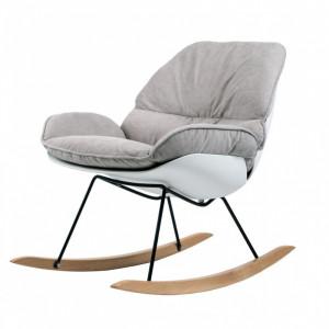 крісло-гойдалка serenity (сереніті) з тканини, arm-r505bl-grey Concepto