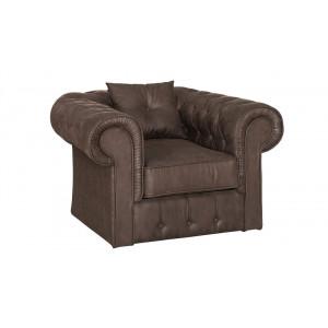 крісло честер 1ка нерозкладний, амелі коричневий Меблі Сервіс