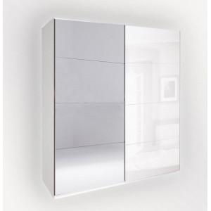 Шкаф-купе зеркало 2,0м, спальня белла, bl-15-wb/vn/bl Миромарк