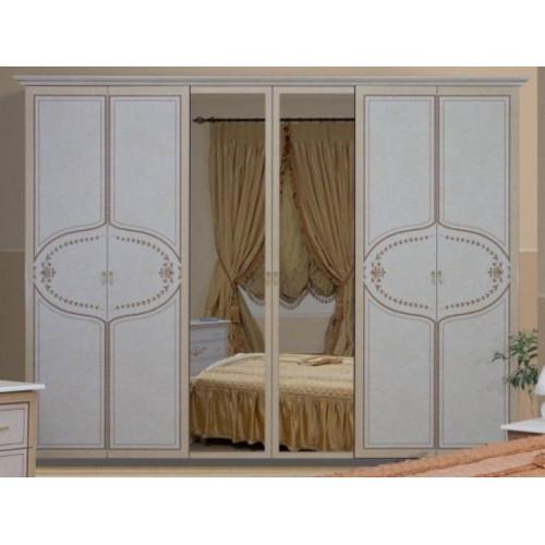 Шкаф 6дв, спальня Мартина, (MR-16-RB) Миромарк