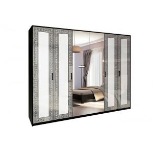 Шкаф 6дв, спальня виола, vl-16-wb Миромарк