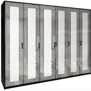 Шкаф 6дв (без зеркал), спальня виола, vl-26-wb Миромарк