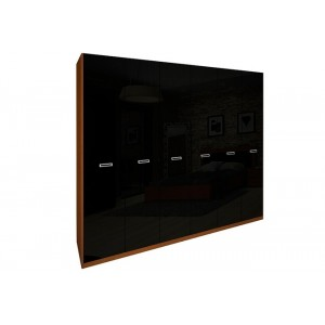 Шкаф 6дв без зеркал, спальня белла, bl-26-wb/vn/bl Миромарк