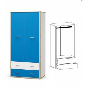 Шкаф 2д2ш, детская модульная система лео Мебель Сервис