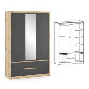 Шкаф 3д, спальня доминика Мебель Сервис
