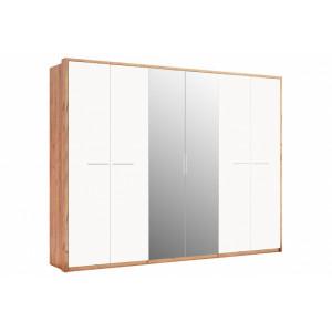 шафа 6дв дзеркало (глянець), спальня нікі, nk-16-wb Міромарк
