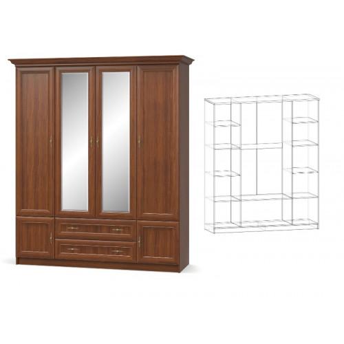 Шкаф 4д, спальня даллас Мебель Сервис
