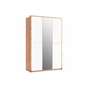 Шафа 3дв дзеркало (глянець), спальня Нікі, NK-13-WB Міромарк