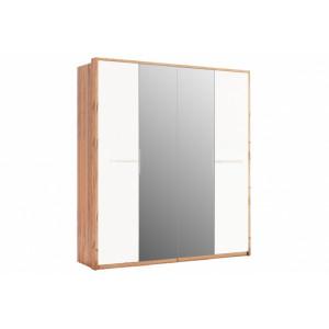 шафа 4дв дзеркало (глянець), спальня нікі, nk-14-wb Міромарк