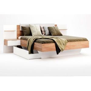 Кровать мягкая спинка + приставные прикроватные тумбы (2шт) + ящик, модульная система Асти,  Миромарк