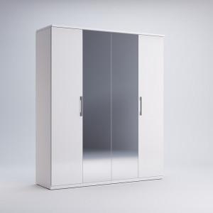 Шафа 4дв дзеркало, спальня Фемелі, FM-14-WB Міромарк